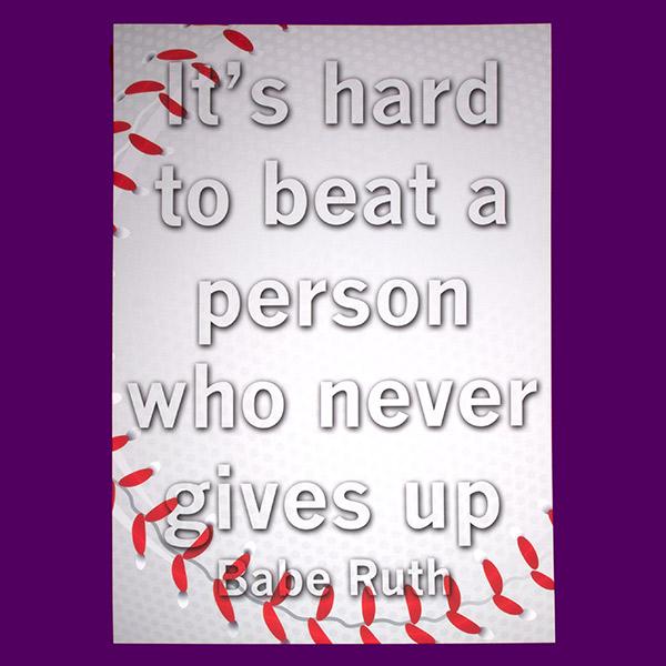 Motivational | Poster Design | Babe Ruth