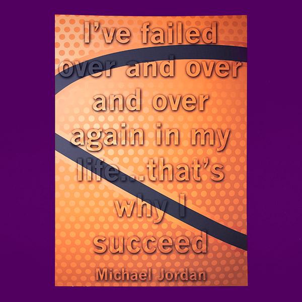 Motivational | Poster Design | Fail Succeed