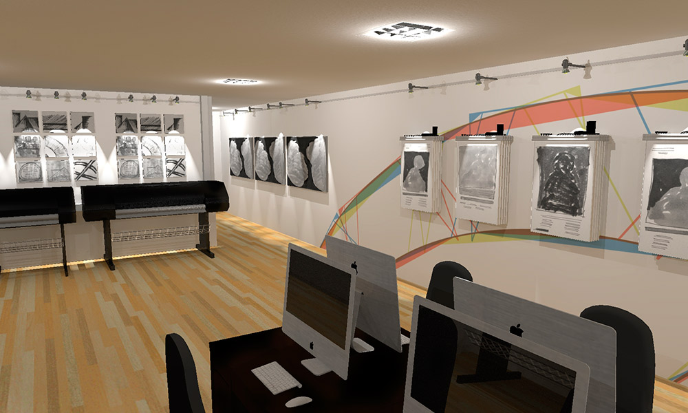 Innovation Hub Andover | Interior Design Concept | Print Studio Image Display