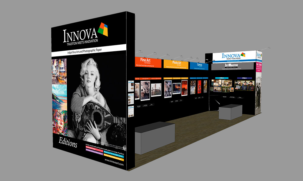 Photo Plus Expo 2017 | Trade Show Stand Design Concept | Left