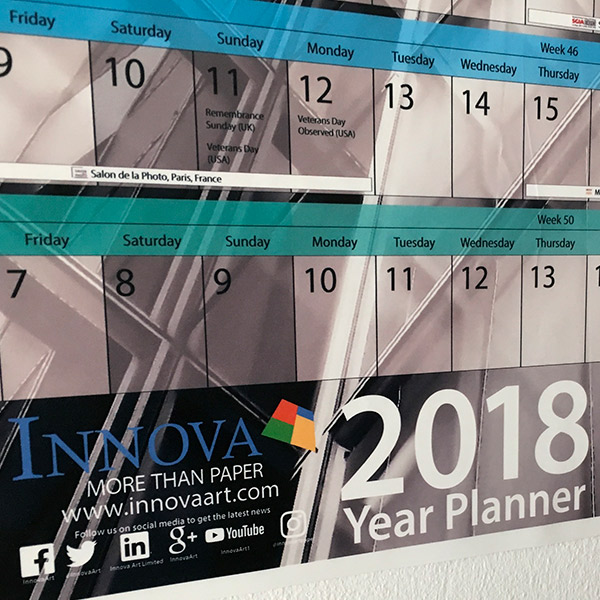 Year Planner 2018 | Poster Design | Close Up