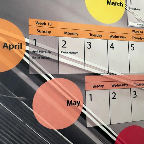 Year Planner 2018 | Poster Design | Spring Months