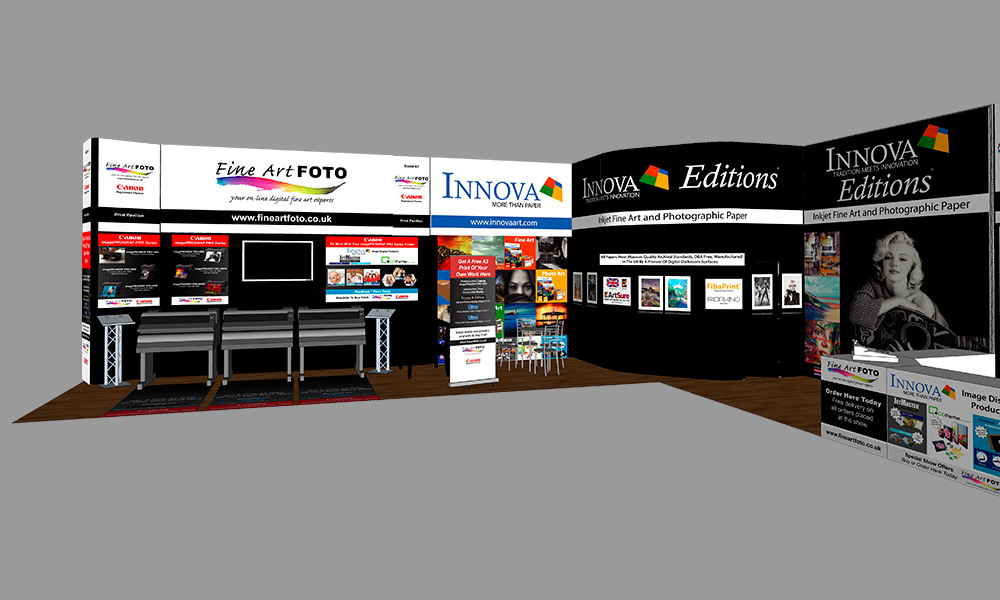 The Photography Show 2018 | Trade Show Stand Design Concept | Left