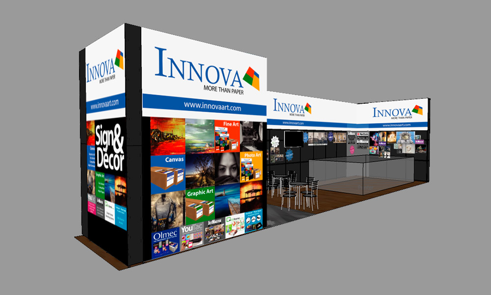 FESPA 2018 | Trade Show Stand Design Concept | Left