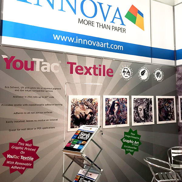 FESPA 2018 | Trade Show Stand Design | YouTac Textile and Innova Graphic Art Applications