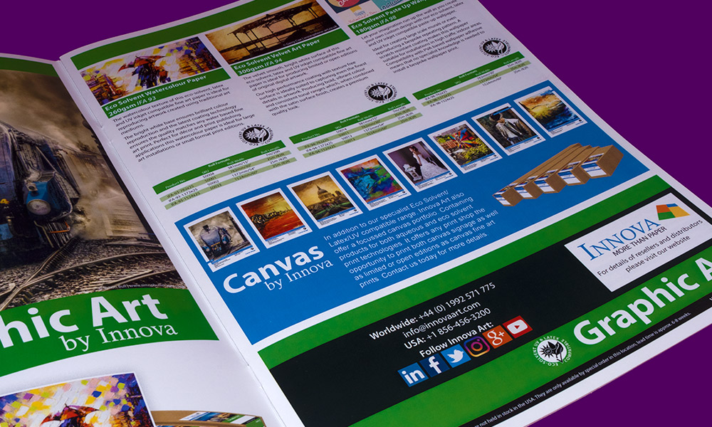 Sign & Decor | Literature Design | Product Guide: Innova Graphic Art Page Close Up