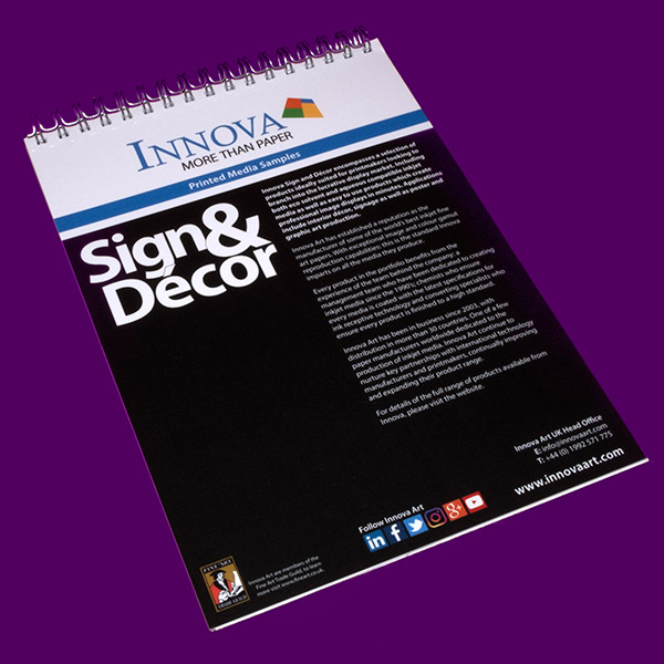 Sign & Decor | Literature Design | Swatch Book: Back Cover