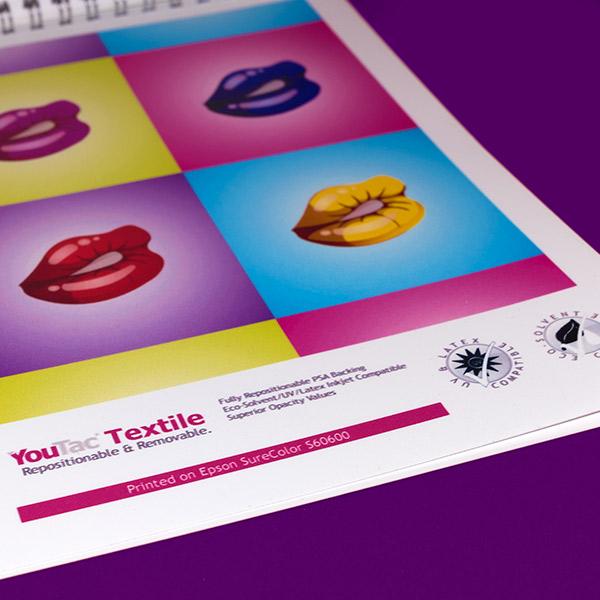 Sign & Decor | Literature Design | Swatch Book: YouTac Eco Solvent Textile