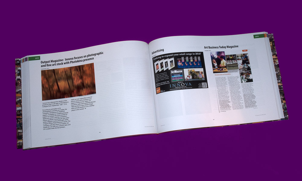 Fifteen Years of Innova Art | Book Design | 2014 Press Clippings