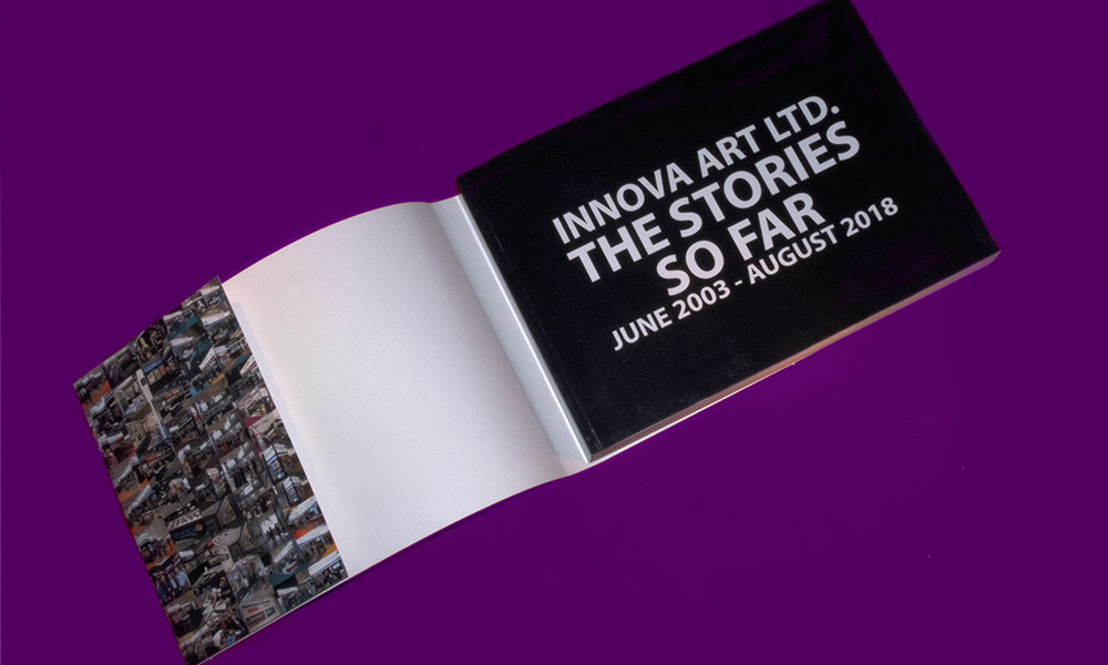 Fifteen Years of Innova Art | Book Design | Paperback Cover with Dust Jacket